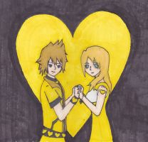 4th Alice: Roxas and Namine by confuzed-anime-fan
