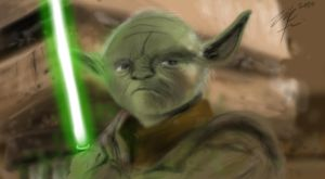 Yoda Speedpaint by ziksan
