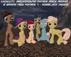 MLP: Background Ponies Pack ADDON by MarineACU