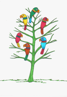 Tree with Parrots by December012