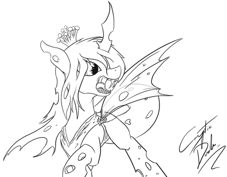 Chrysalis Lineart by Cryptic-Dash
