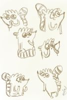 Rigby Sketches by leeleecalgirl