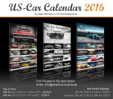 AmericanMuscle.de Photo Calendars 2016 by AmericanMuscle