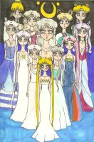 Beautiful Moon Queens by KonekoTsukino
