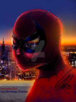 Spider Axel Brock Luna color Pedro Rguez by pvwhellsing