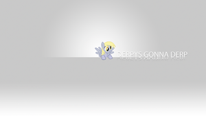 Derpys Gonna Derp Minimalistic Wallpaper by BlueDragonHans