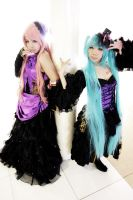 Sandplay Singing of the Dragon ~Luka x Miku~ by Aiashi-Touya