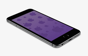 Purple Sandy Apple Wallpaper for iPhone 6 and 6+ by kiwimanjaro