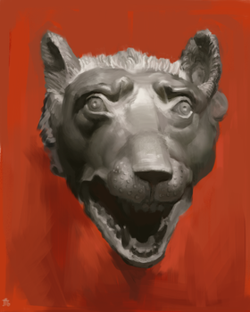 Wolf Head Sculpture Study by Exidelo