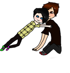 PhilxDan= Tacklehugs! by Glameowl
