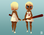 3D chibi bat girl by sachsen