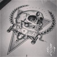 C x I x D Skull / Triangle by EdwardMiller