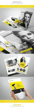 Premium Hair Salon Flyer by hoanggiang12
