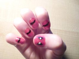 Dead pool nails by ShayeraLee