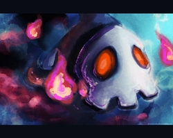 Duskull by GlassPanda