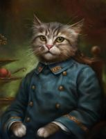 The Hermitage Court Confectioner Apprentice Cat by EldarZakirov