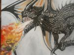 Finished Dragon! (close up) by IsabellaTwibell
