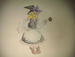 Day 1 - Marisa Kirisame by Dr-Quollchops