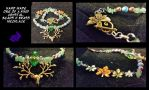Crystal, brass, jade and bead maiden Necklace. by Khthonia
