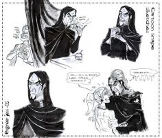 Cartoon Snape Sketches by zorm