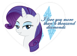 Rarity Valentine by JennieOo