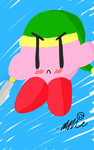[Kirby] Sword Kirby by Weirdotomato