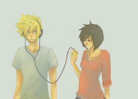 KH - Roxas x Xion by roolph