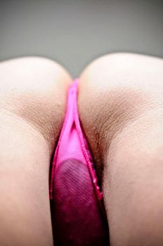 Pink Panties bent over by ravin3d