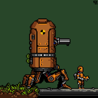 Pixel Dailies 4/9/14 Robotic by 1bardesign