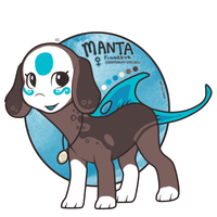 OC: Manta the Finnedyr! by c-Chimera
