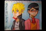 Naruto Gaiden: Boruto and Sarada by phoenix-cosplayer