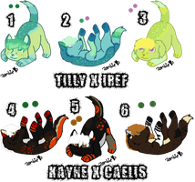 Pair My Breedables Litters 4 - Open by KittehzAdopts