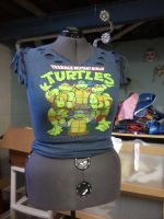 TMNT T-shirt Alteration by snowtigra