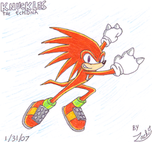 Knuckles the Echidna -neoshine by ZBot9000