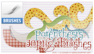 Parenthesis brushes-PNG by lo-scrigno-di-connie