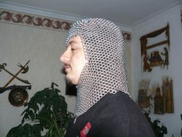 Dragonscale chainmail coif by shashaveli