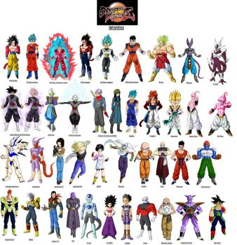 Dragon Ball FighterZ Wishlist by Abyss1