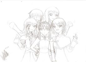 Sketch: All together by luciellemichaelis