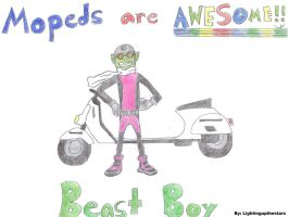 Beast Boy Mopeds by LightingUpTheStars