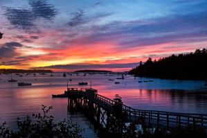 Southwest Harbor Sunrise by gordo99