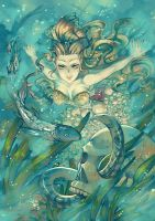 COMMISSION: Underwater Wella by Celsa