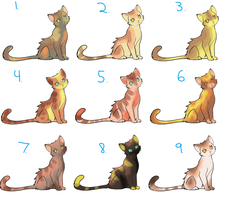 Sandy Coloured Kitty Adopts: 12 points OPEN by RubyAdopts