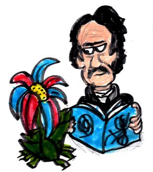 Edger Alan Poe and a Flower by SonicClone