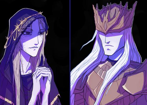 Lothric and Lorian by LadySiryna