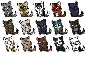Quick Canine Adopts by wolffoxin
