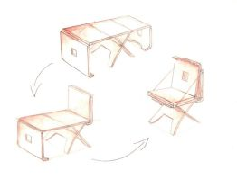 Folding chair sketches by mocorock