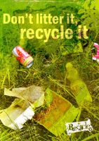 Don't litter it, recycle it by hippiedesigner
