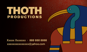 Thoth Productions BusinessCard by Fritters
