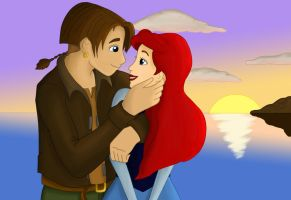Jim and Ariel by sphhia