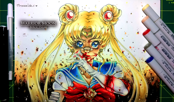 WARRIOR MOON + COLORING VIDEO by MroczniaK